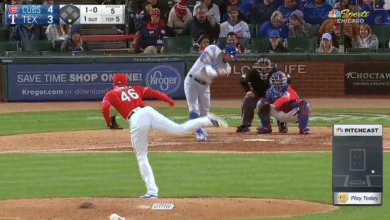 Photo of Watch: Kyle Schwarber Crushes Home Run Against Rangers