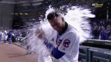 Photo of Watch: Kris Bryant Gets Drenched then Praises Cubs Fans for their Dedication