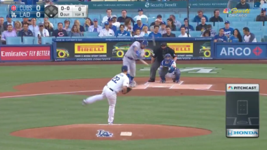 Photo of Watch: Kyle Schwarber Crushes First Kershaw Pitch for Deep Home Run