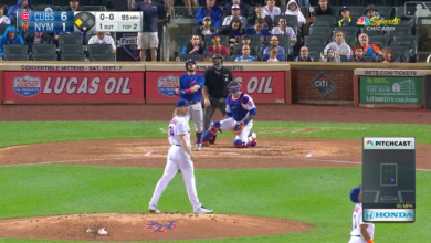 Photo of Watch: Kyle Schwarber Launches Oppo Home Run Off Syndergaard