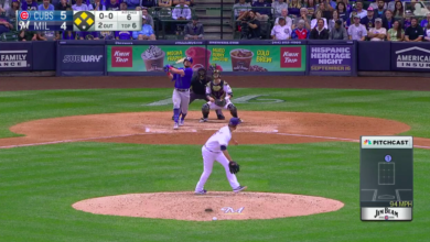 Photo of Watch: Kyle Schwarber Launches Grand Slam Against Brewers