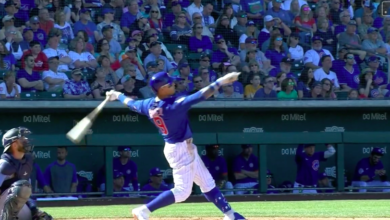 Photo of Watch: Javy Báez Rips Home Run to Center Field
