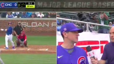 Photo of Watch: Ian Happ Launches First Spring Home Run