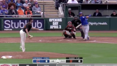 Photo of Watch: Willson Contreras Hammers Home Run Against Giants