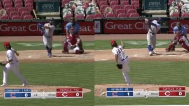 Photo of Watch: Kyle Schwarber and Jason Heyward Blast Solo Home Runs to Give Cubs 2-0 Lead