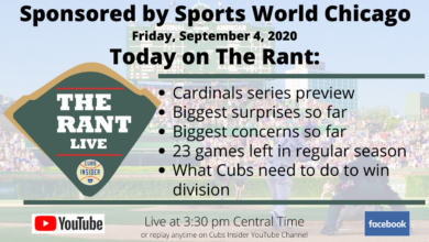 Photo of The Rant Live (9/4/20): Chicago Cubs vs. St. Louis Cardinals Series Preview Special Edition (Video)
