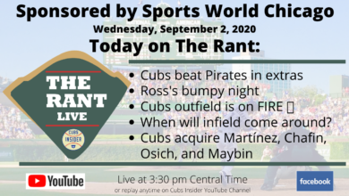 Photo of The Rant Live (9/2/20): Cubs Beat Pirates in Extras, Ross Stumbles, Impact of Cubs' Trades, Outfield Offensive Juggernaut