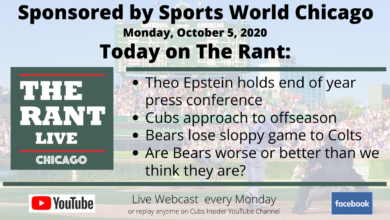 Photo of The Rant Live – Chicago Sports (10/5/20): Cubs Season Wrap, Bears Fall Short Against Colts